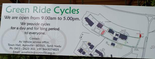 Go Green Cycle rentals at Auroville