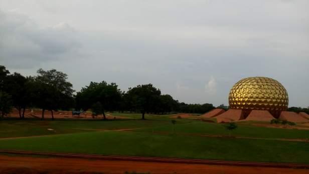 Matrimandir inside Park of Unity, Auroville