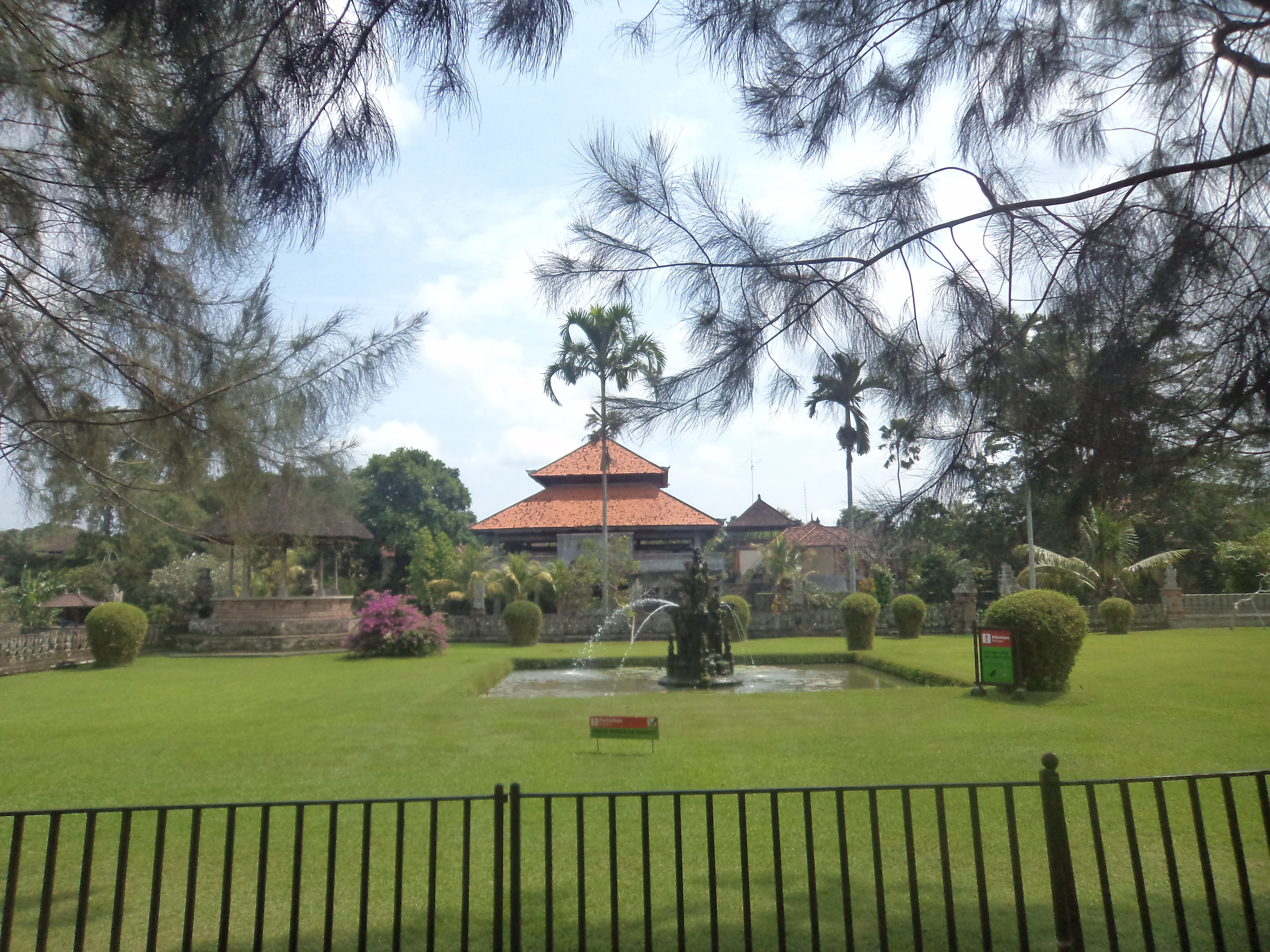 View from outside - Taman Ayun temple, Bali