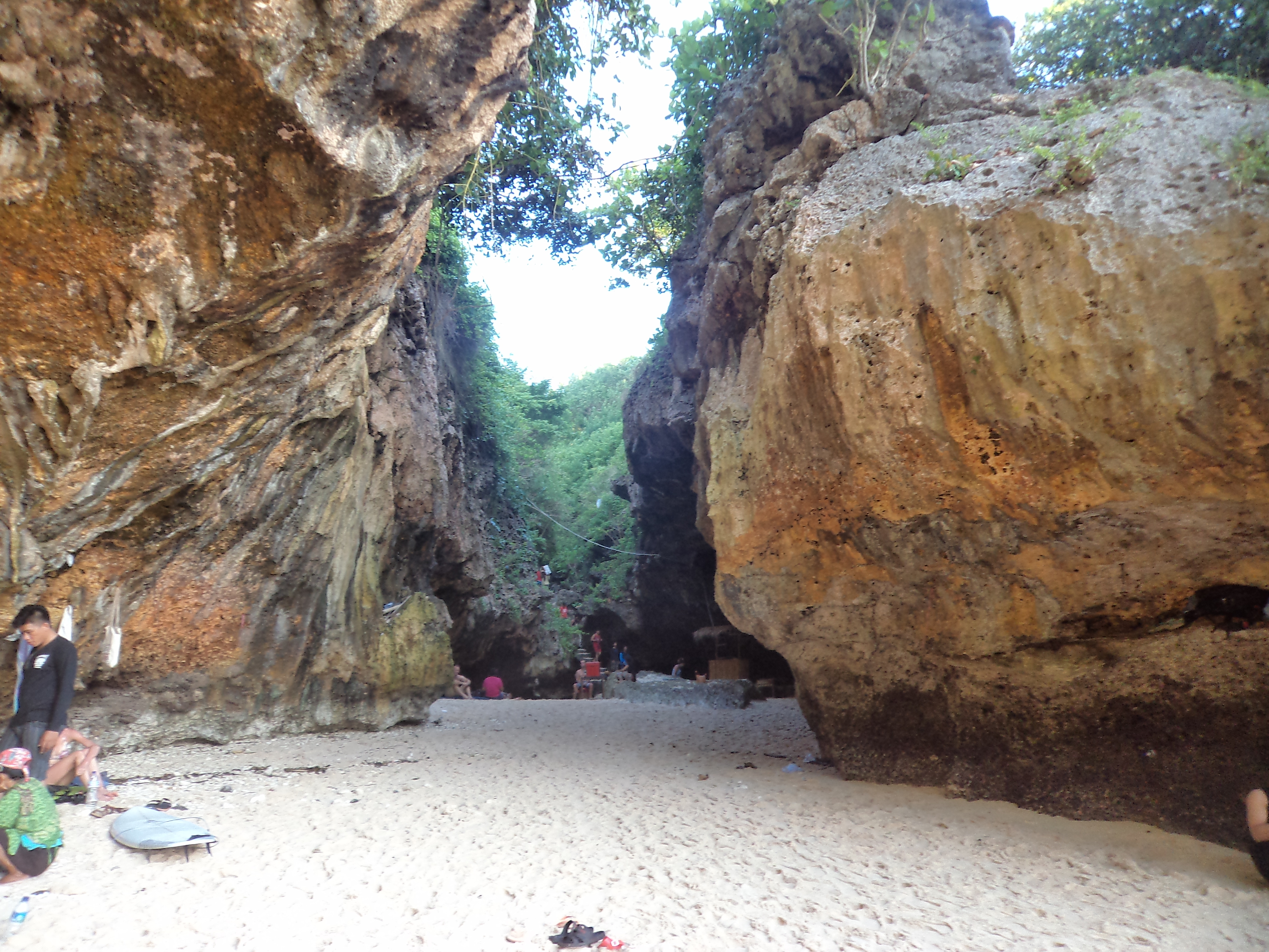 Steps to reach Suluban Beach, Bali