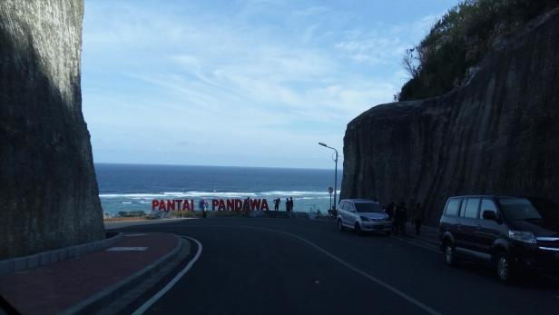 Entrance to Pantai Pandawa, Bali