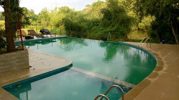 Swimming pool @ Pepper Green Village, Wayanad