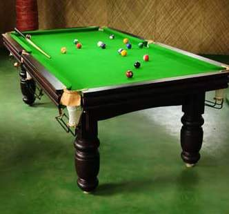 Snooker table at Pepper Green Village