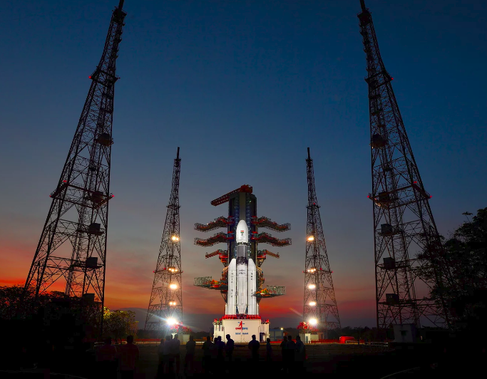 The fully integrated GSLV Mk-III-D1 carrying GSAT-19 at the second launch pad