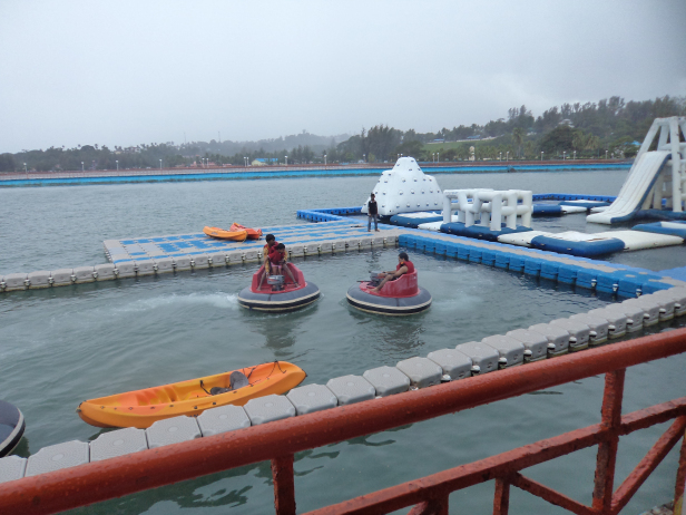 Bumper boat at Andaman Water Sports complex