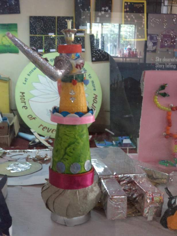 Exibits made by children at Science Center, Port Blair