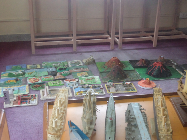 Exhibits by children at Science Center, Port Blair