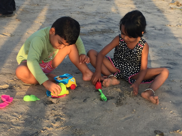 Kids playing at the Alleppey beach