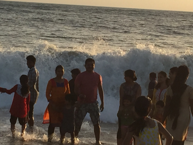 Big waves at the Alleppey Beach