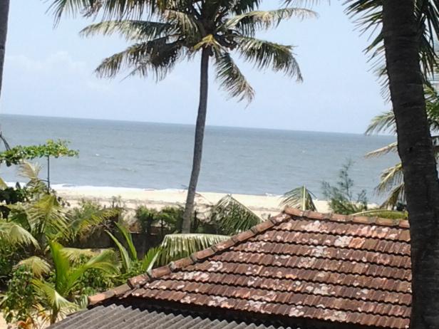 View from 1st floor room at Casamaria Beach resort, Alleppey, Kerala