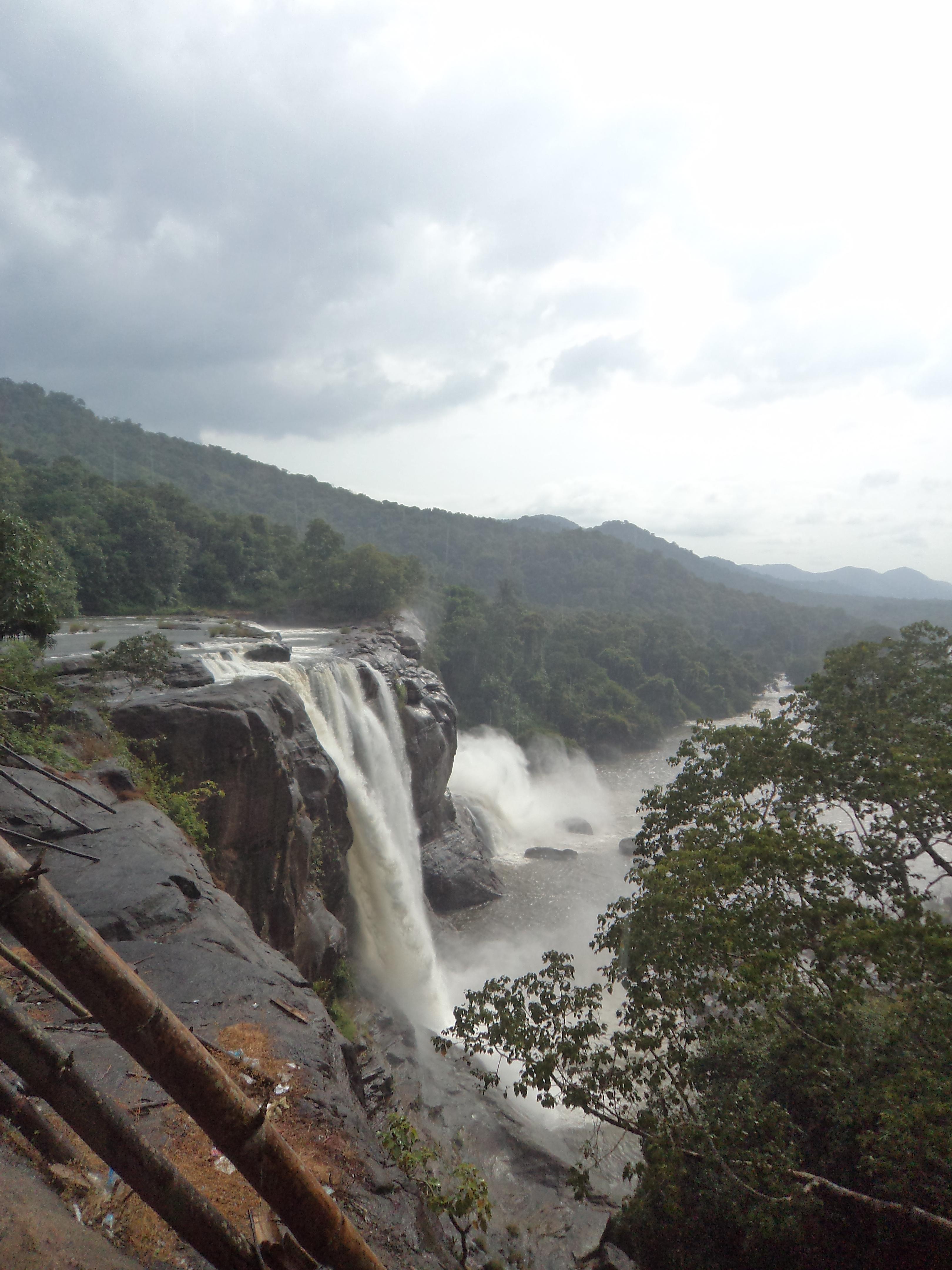 Top view of Athirapally Falls, Kerala