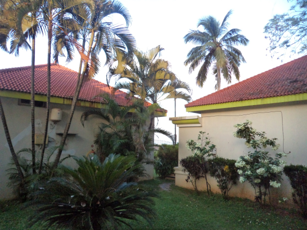 View from our room at Panoramic Sea View Resort, Alleppey
