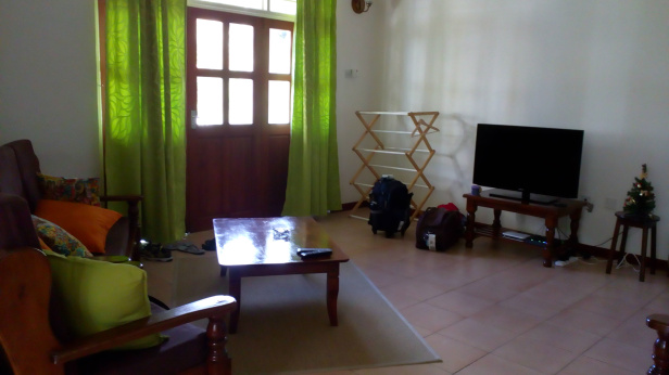 Living room, also has a single bed