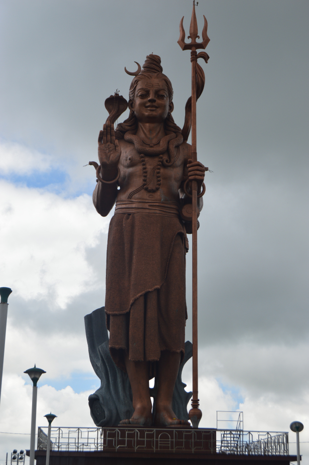 108ft tall statue of Lord Shiva at Ganga Talao, Grand Bassin, Mauritius