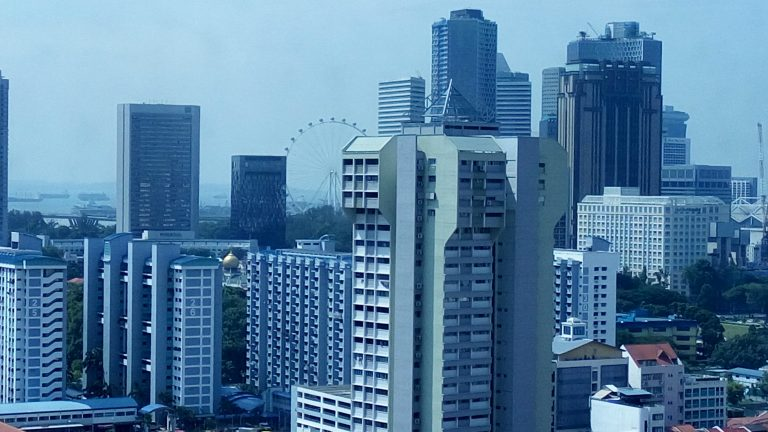View from our deluxe room at Parkroyal Kitchener Road Singapore