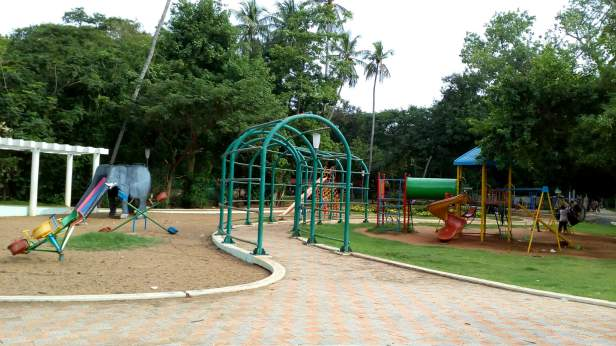 Kids play area at the botanical garden